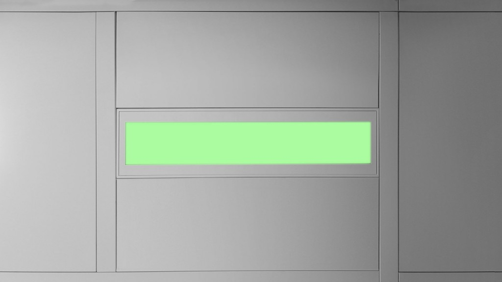 Vollumfänglich zertifizierte OP-Leuchte, grün
